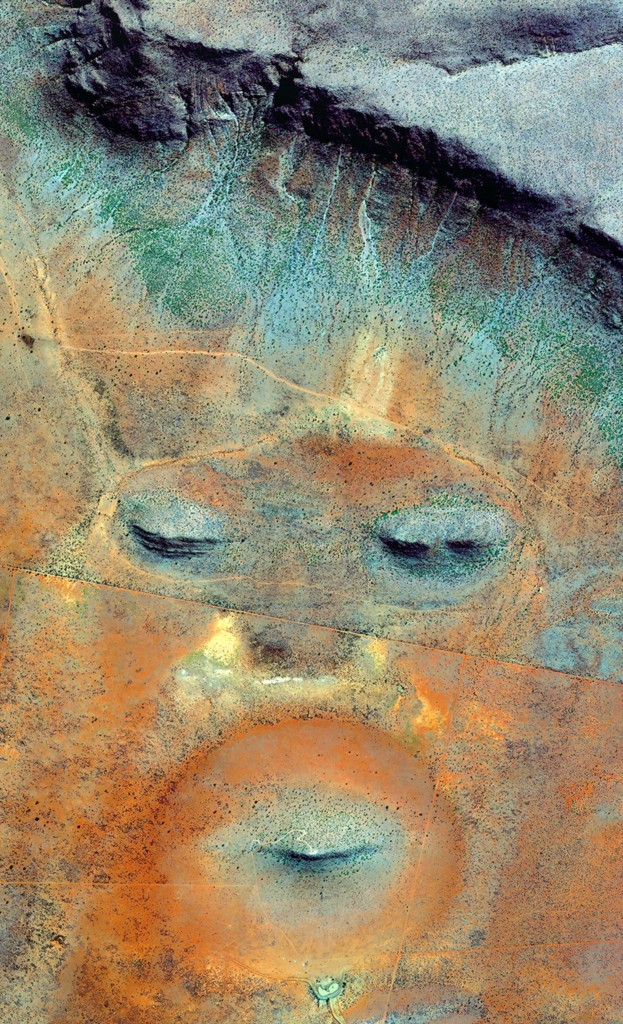 EARTH PORTRAIT 23 Namibia 2016 Satellite Photography 180 x 80 cm